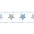 Wallpaper Border star Rasch Textil white blue 330495 001