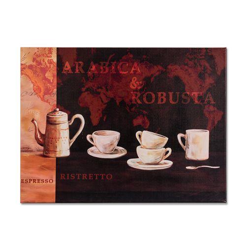 Wandbild Kaffee Espresso Küche Tassen rot orange 62x47 cm online kaufen