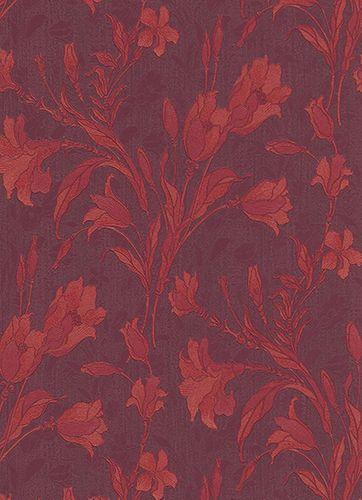 Vliestapete Floral Blumen lila rot Glanz 5796-09 online kaufen