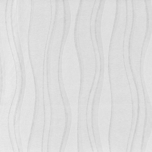 Tapete 13045-14 Vliestapete modern Wellen weiß Großrolle 10,05x1,06m online kaufen