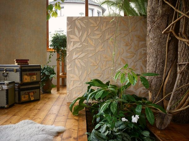 Wallpaper floral taupe gold AS Creation 32880-5 online kaufen