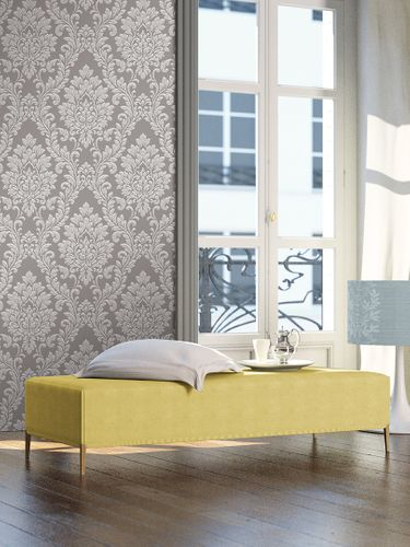 Wallpaper baroque AS Creation grey white 32984-2 online kaufen
