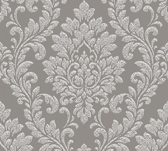 Wallpaper baroque AS Creation grey white 32984-2