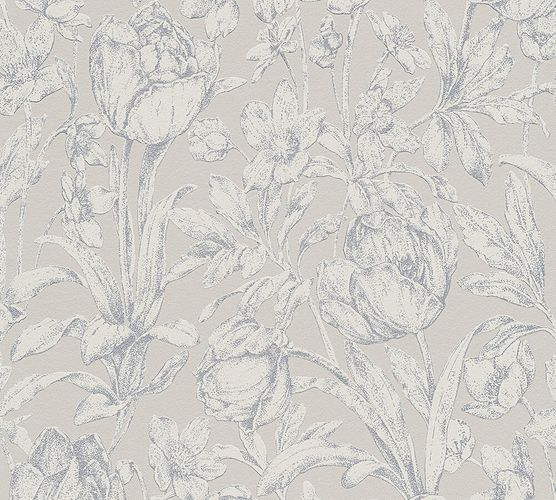 Wallpaper nature floral gloss AS Creation taupe 32985-1