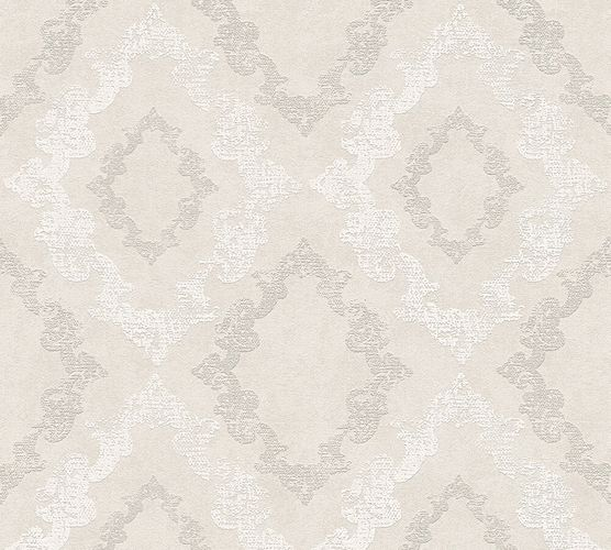 Wallpaper baroque glitter AS Creation grey white 32989-1
