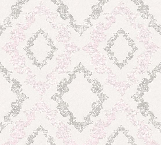 Wallpaper baroque glitter AS Creation rose grey 32989-2