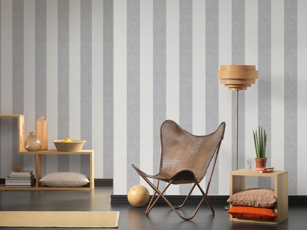 Wallpaper stripes striped AS Creation white grey 32990-2 online kaufen