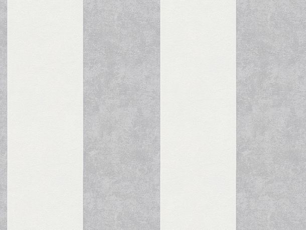 Wallpaper stripes striped AS Creation white grey 32990-2