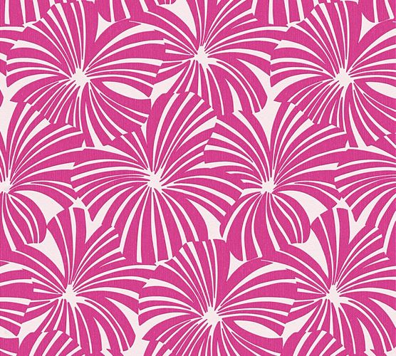 Wallpaper Esprit Home graphic flowers pink 32759-4