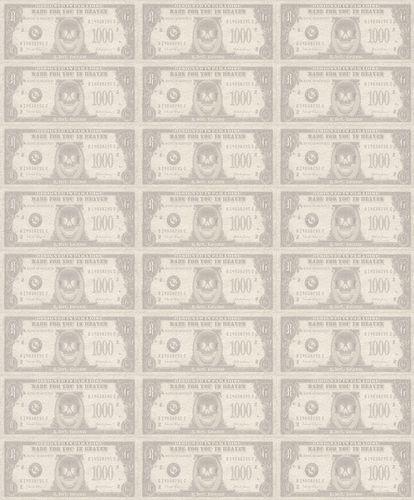 Tapete Roberto Geissini Geldscheine creme beige 492170 online kaufen