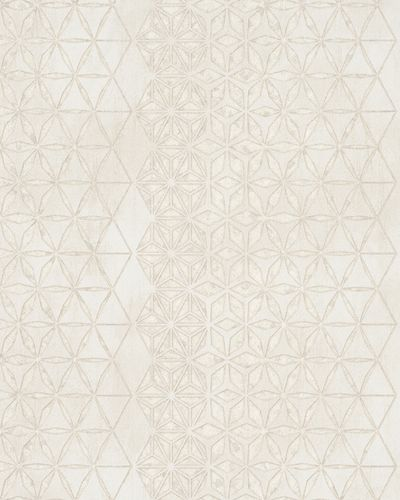 Wallpaper graphic stars gloss Marburg cream beige 58107