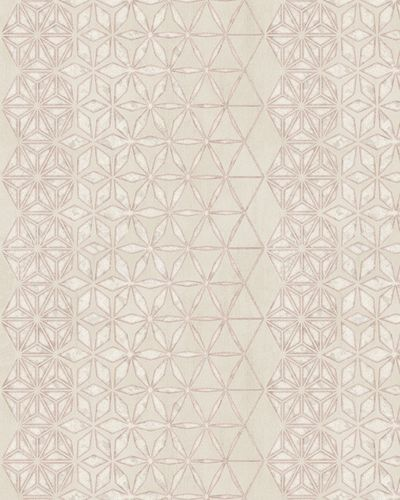 Wallpaper graphic stars Marburg cream silver pink 58108