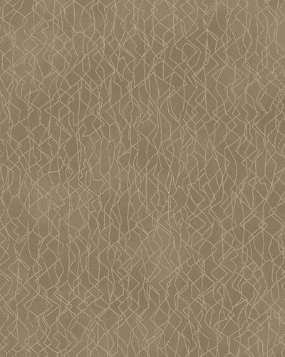 Wallpaper graphic pattern gloss Marburg brown gold 58111