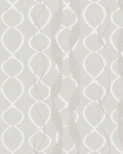 Wallpaper graphic loops gloss Marburg La Vie cream 58122 online kaufen