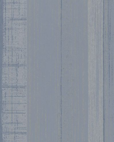 Wallpaper striped gloss Marburg La Vie blue silver 58126