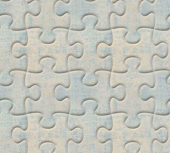 Wallpaper puzzle vintage blue AS Creation 32703-2 online kaufen