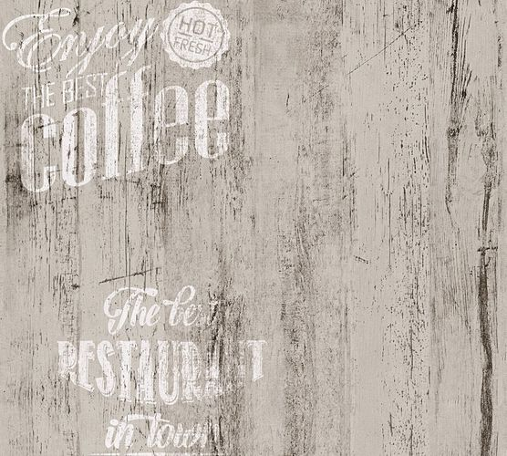 Wallpaper coffee vintage grey AS Creation 33481-4 online kaufen