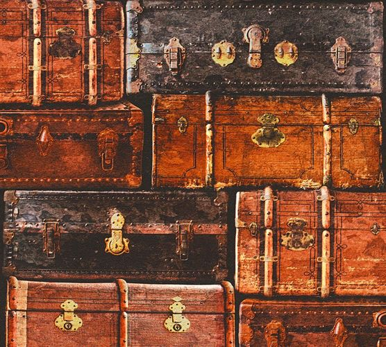 Wallpaper suitcase vintage brown AS Creation 33983-1 online kaufen