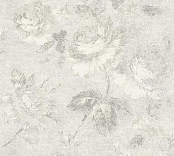 Wallpaper rose flower vintage grey AS Creation 33604-3