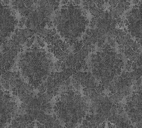 Wallpaper ornaments vintage anthracite AS Creation 33607-8