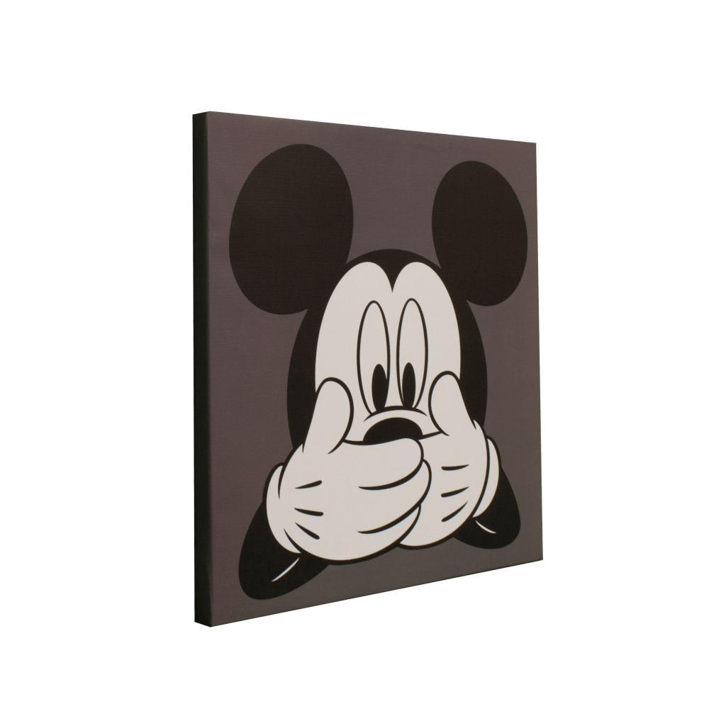Wandbild Keilrahmen Disney Micky Maus Kinder 35x35cm Bild