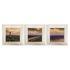 Set of 3 Framed Pictures Mural Lighthouse Beach Ocean 23x23cm 1