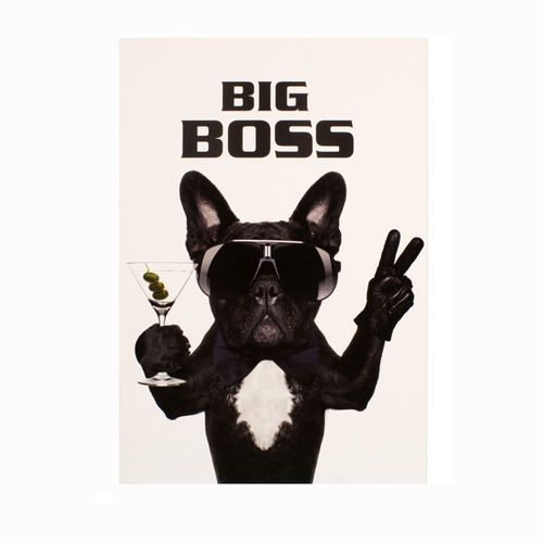 Picture Canvas Mural Dog Bulldog Big Boss 46x61cm online kaufen