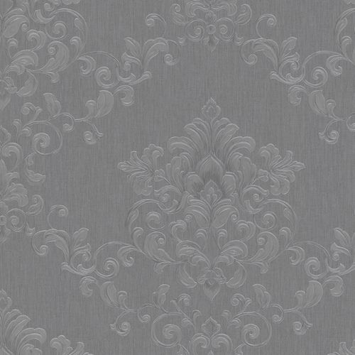 Wallpaper tendril floral anthracite Marburg Opulence 58225
