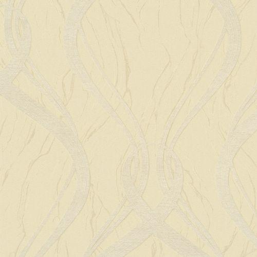Wallpaper wave design yellow Marburg Opulence 58233