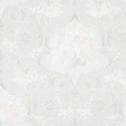 Wallpaper floral flower white grey Marburg Opulence 58266