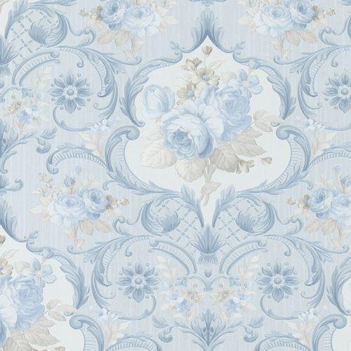 Wallpaper floral flower blue Marburg Opulence 58267 online kaufen