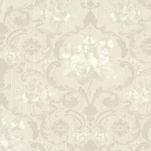 Vliestapete Blumen cremebeige Metallic Marburg 58269 online kaufen