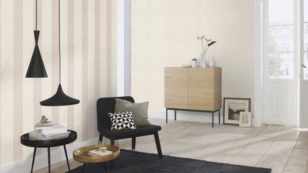 Wallpaper Rasch Florentine stripes vintage grey 449600 online kaufen