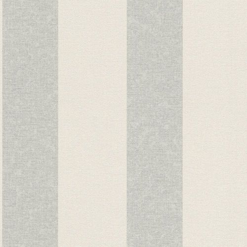 Wallpaper Rasch Florentine stripes vintage grey 449648