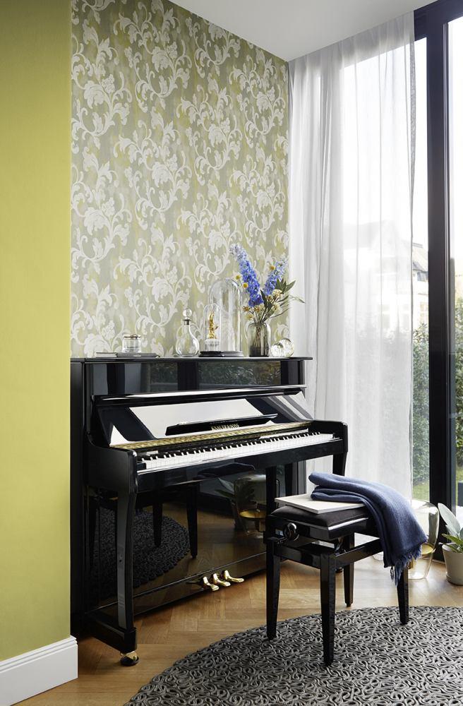 Wallpaper Rasch Florentine tendril vintage gelb 455335