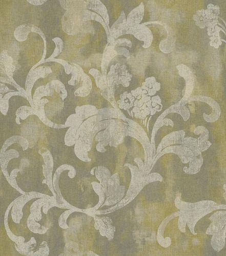 Vliestapete Florentine Ranken Vintage gelbgrün 455335 online kaufen