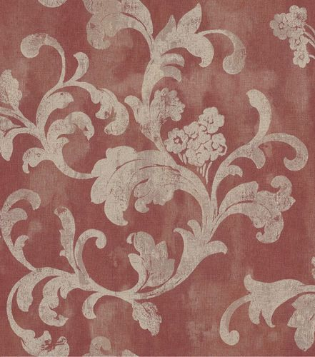 Wallpaper Rasch Florentine tendril vintage red brown 455366 online kaufen