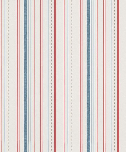 Wallpaper Rasch My Moments stripes white blue red 305937 online kaufen