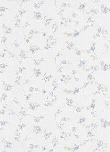 Vliestapete Rosen blau Erismann Vie en rose 5824-08