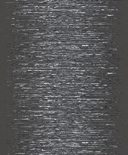 Vliestapete Rasch Deco Style Streifen anthrazit silber 413816