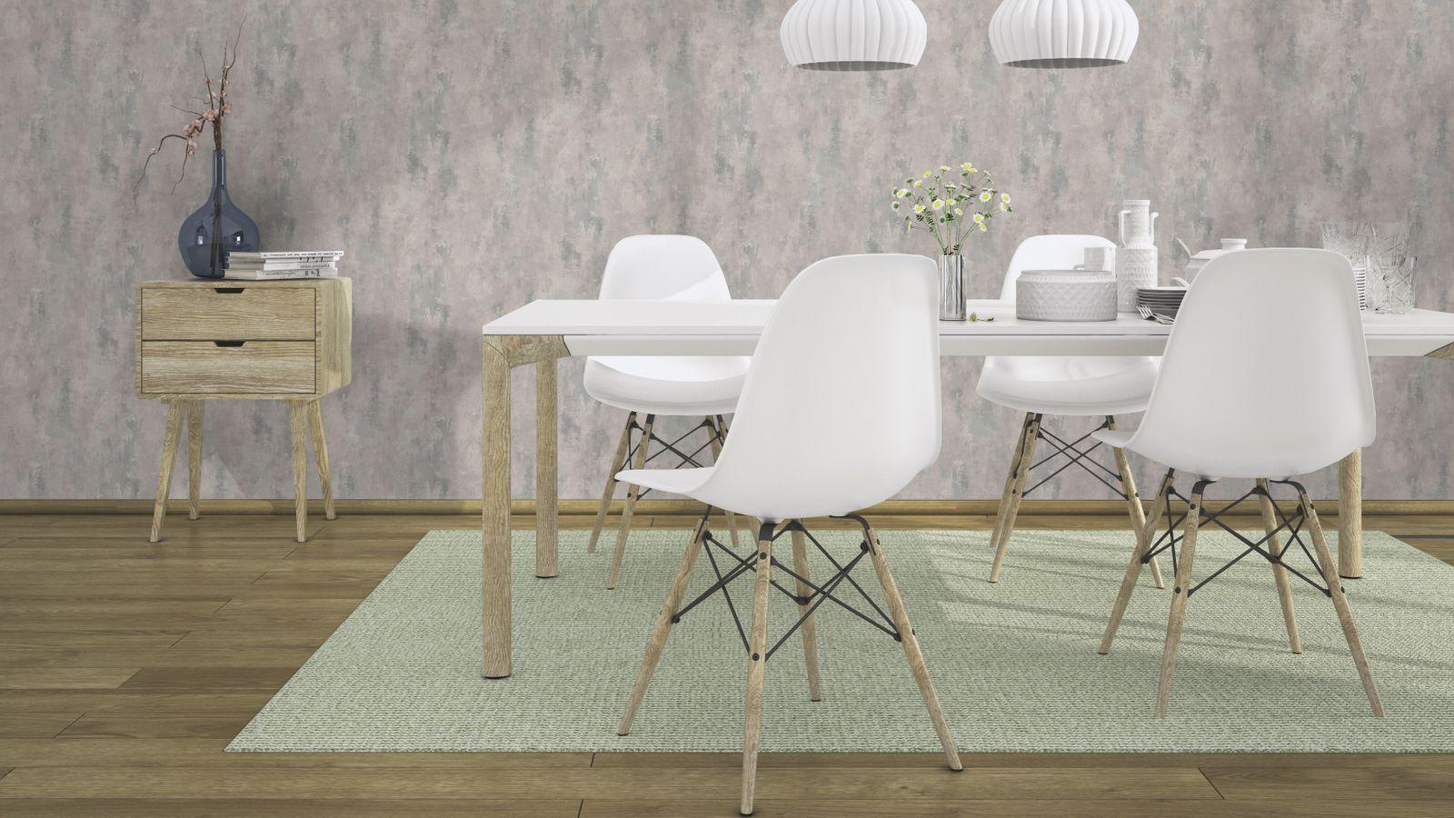 vliestapete rasch deco style used vintage grau glanz 418248. Black Bedroom Furniture Sets. Home Design Ideas
