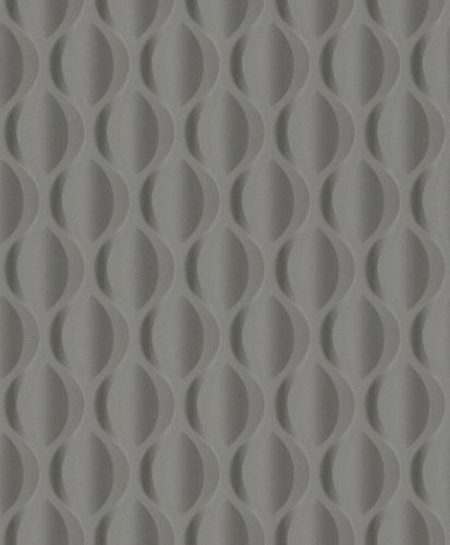Wallpaper Rasch Deco Style 3D retro dark grey 504569