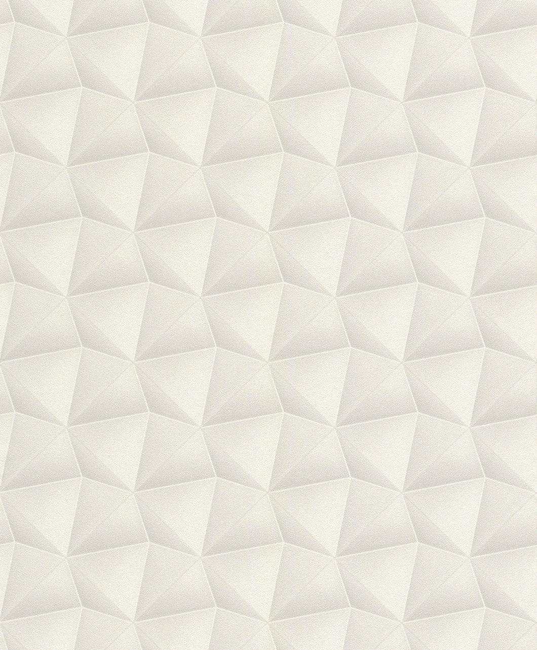 vliestapete rasch deco style 3d waben grau glitzer 504644. Black Bedroom Furniture Sets. Home Design Ideas