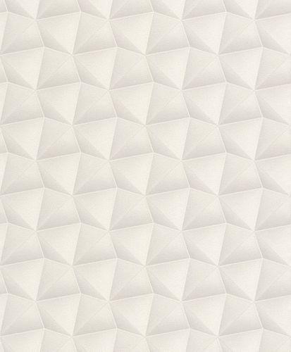 Wallpaper Rasch Deco Style 3D combs grey glitter 504644