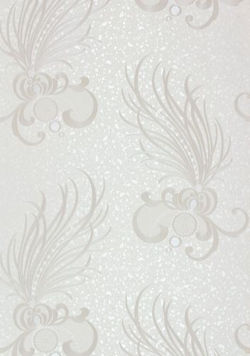 Wallpaper Glööckler ornaments feathers white Metallic 54847 online kaufen