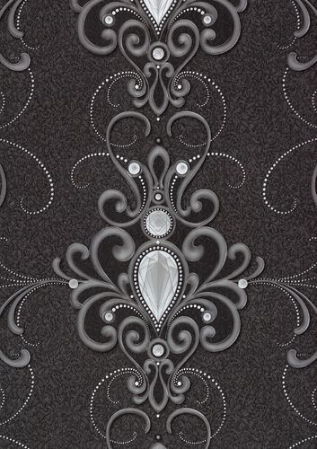 Wallpaper Glööckler diamond ornament anthracite Metallic 54853 online kaufen