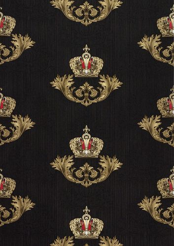 Wallpaper Glööckler baroque crown black Metallic 54854 online kaufen
