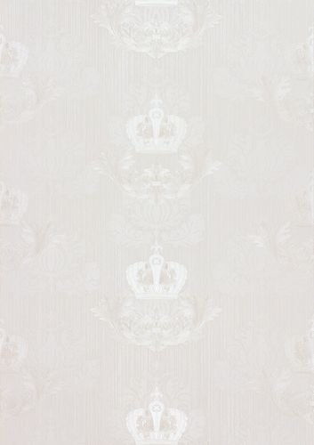 Wallpaper Glööckler baroque crown white Metallic 54857 online kaufen
