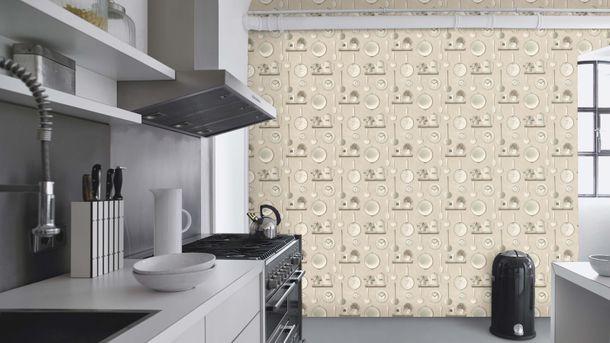 Wallpaper Rasch Deco Style kitchen light grey grey 307115 online kaufen