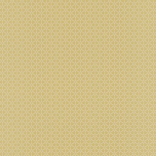 Wallpaper Rasch Deco Style graphics ochre 518245